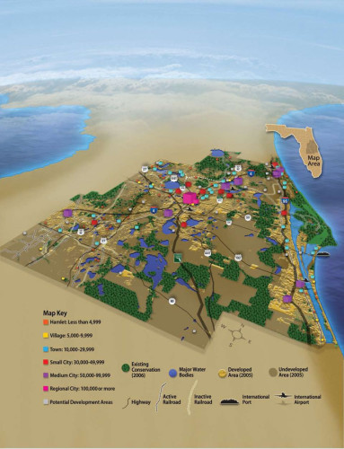 Illustration I did for MyRegion.org - a cooperative effort by the Central Florida 7 county region and how resources, population, business and conservation will be handled in the years ahead.