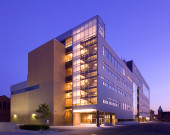 Detroit Art School exterior at twilight