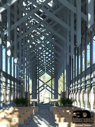 Digital Recreation of Thorncronw Chapel - Interior