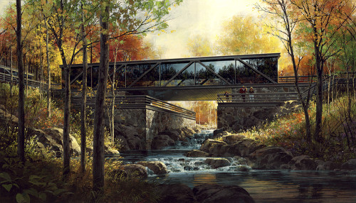 Special Architectural Rendering - Fall Scene