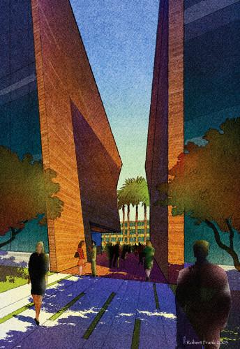 Robert Frank Architectural Illustration