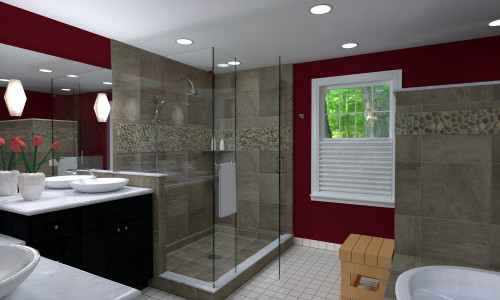 3D Rendering: Bathroom remodel