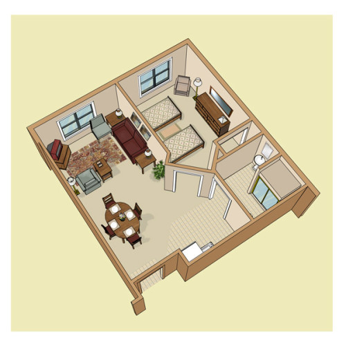 3-D floor Plan. Used for Marketing Material