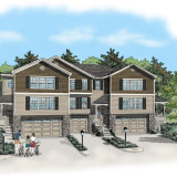 Pen and Ink with Digital Color. Apt. Complex. Pre-construction marketing