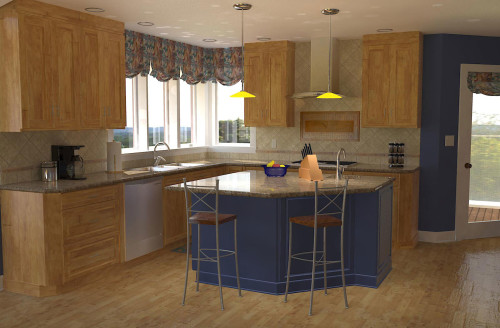 3D Rendering: Kitchen remodel