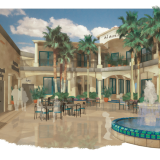 Digital Watercolor Commercial Rendering