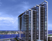 Exterior 3D Render of Condominium Development Florida