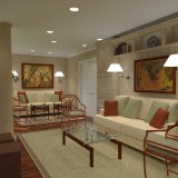 3D Rendering: Elegant living room