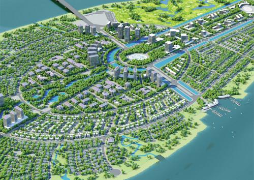 3D kien truc   3D animation on new development at Vietnam