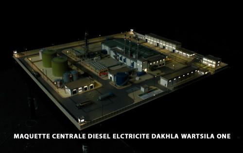 MAQUETTE-CENTRALE-DIESEL-ELCTRICITE-DAKHLA-WARTSILA-ONE