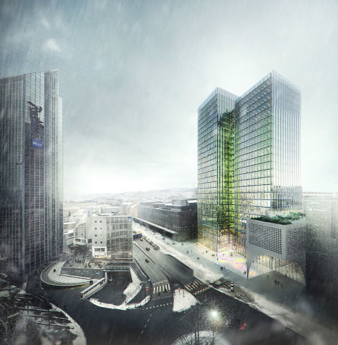 Proposal for rehabilitation of the existing Postgirobygget in Oslo, Norway