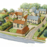 Aerial view of proposed housing development