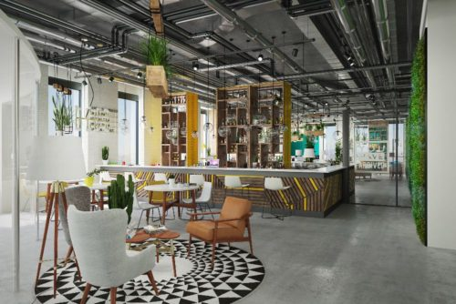 Co-working space - Interior design and 3D rendering